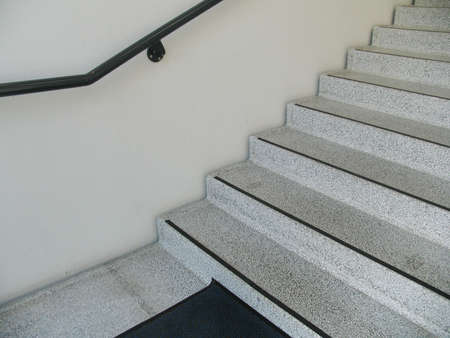 Merveilleux Interior Look Of Terrazzo Staircase In Apartment Building. Stock Photo    272640