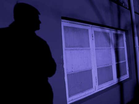 Concept crime... burglary... theft... Stock Photo