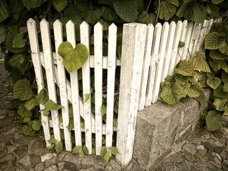 Stock Photo   Vintage Garden Gate In Retro Style.
