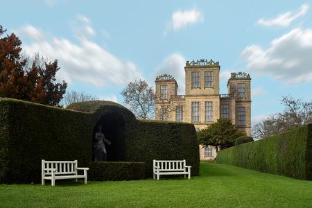 Derbyshire, UNITED KINGDOM – SEPTEMBER 10, 2018: Hardwick Hall Editorial