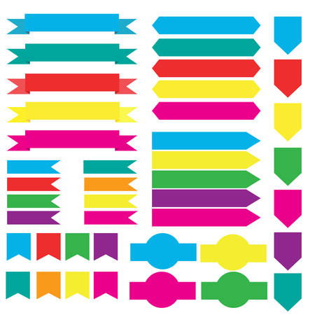 vecter: ribbon set vecter