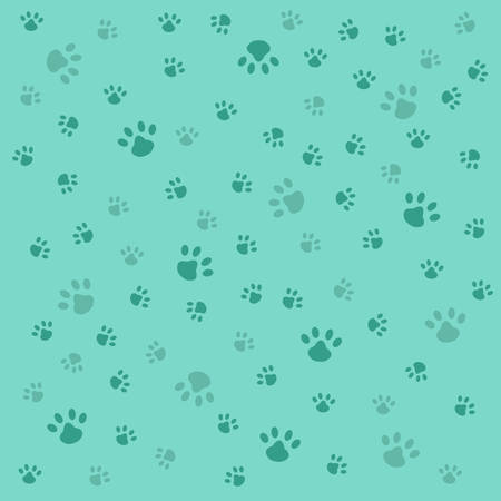 Background with dog paw print Ilustrace