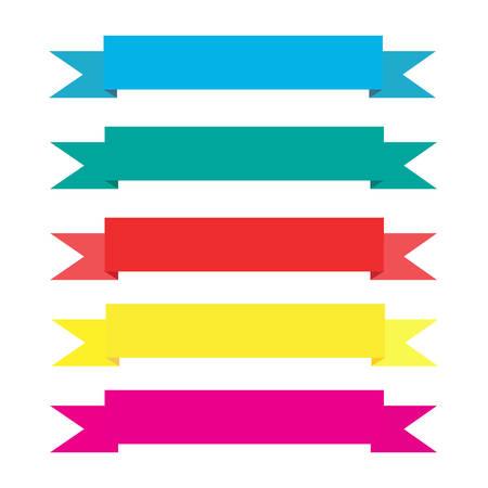 vecter: Vecter set of ribbons