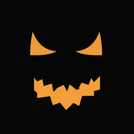 wicked set: Scary faces of Halloween pumpkin