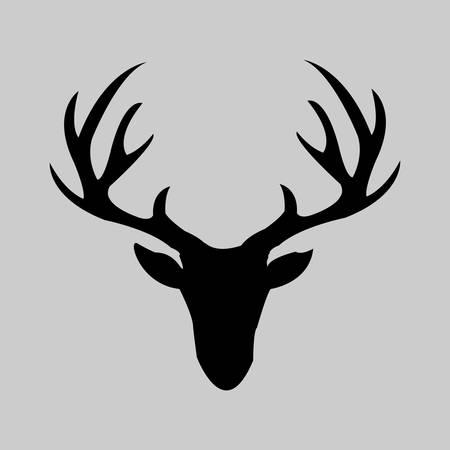 animal head: illustration of a deer head
