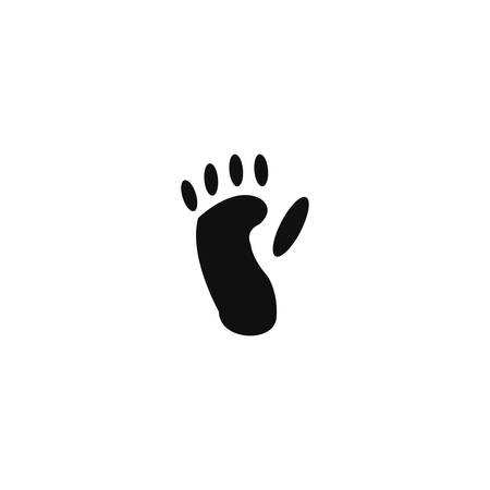 track pad: Animal footprint - monkey Illustration