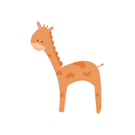 cute: Cute giraffe Illustration