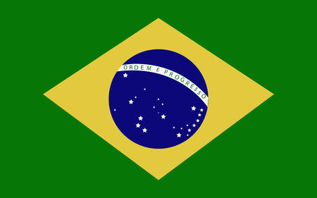Brazil Flag illustration.