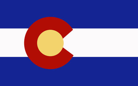 Colorado flag illustration.