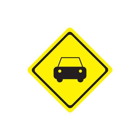 Warning sign for the car Illustration
