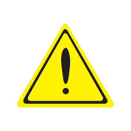 Hazard warning attention sing. Vector illustration.