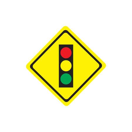Traffic light sign on white background.vector illustration