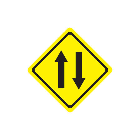 Two way sign Illustration
