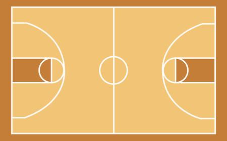 Basketball court illustration. Illusztráció