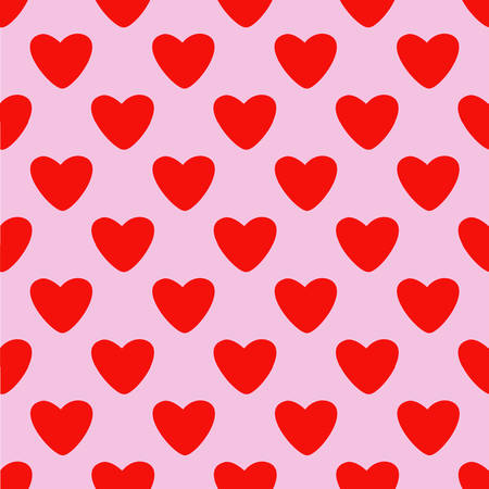 Vector seamless pattern with heart.