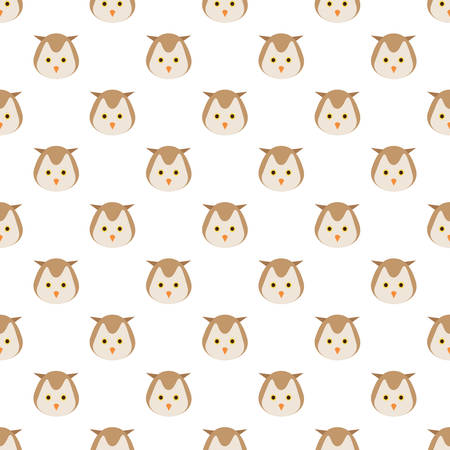 Vector seamless pattern with owls Stock Vector - 94660178