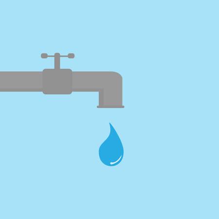 Red het waterconcept Stock Illustratie