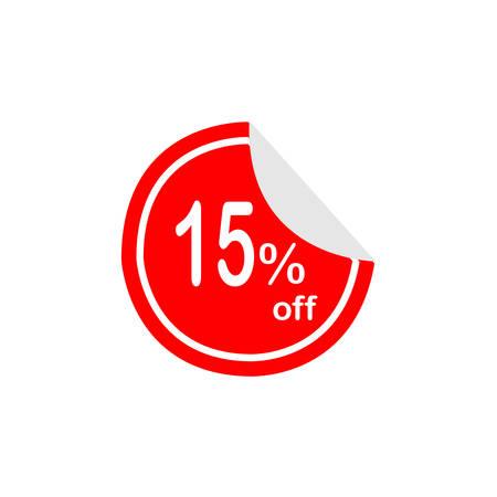 Red Label Sale 15% korting. Stock Illustratie