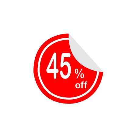 Rode labeluitverkoop 45% korting Stock Illustratie