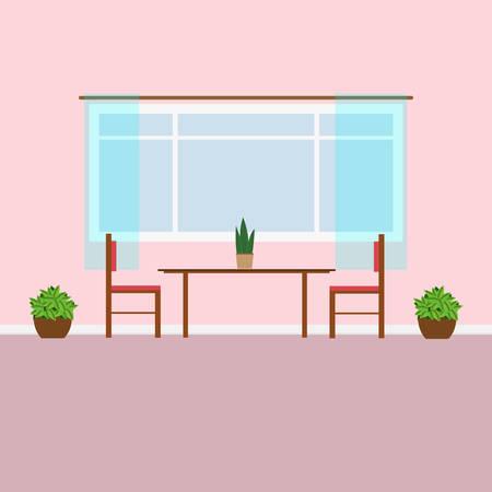Interieur van de eetkamer