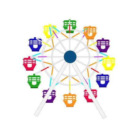 Reuzenrad pictogram Vector illustratie.