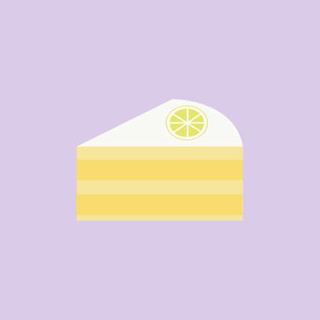 piece of lemon cake