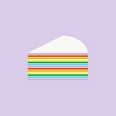 piece of rainbow cake Stockfoto