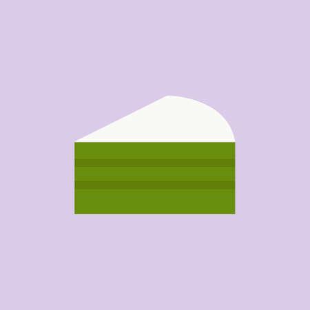 piece of green tea cake
