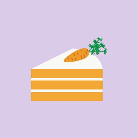 piece of carrot cake Stockfoto