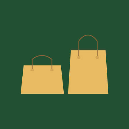 Empty Blank Template Paper Bag Sale Natural Ecology Brown Package for Shopping.