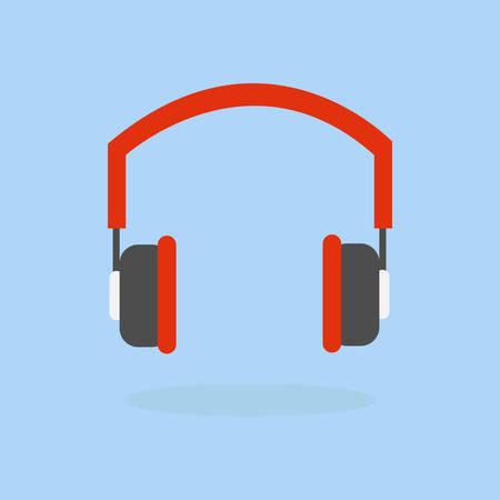Headphone icon vector, listening to music concept.