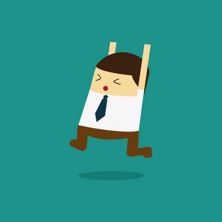 Businessman Celebrating Business Success. Vector illustration