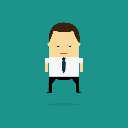 Business man cartoon character.- vector illustration
