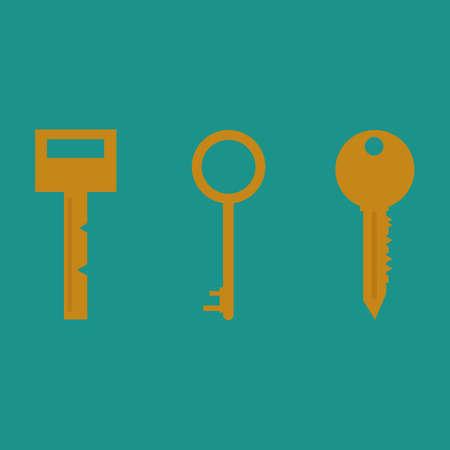 Key vector icon. Key flat illustration.