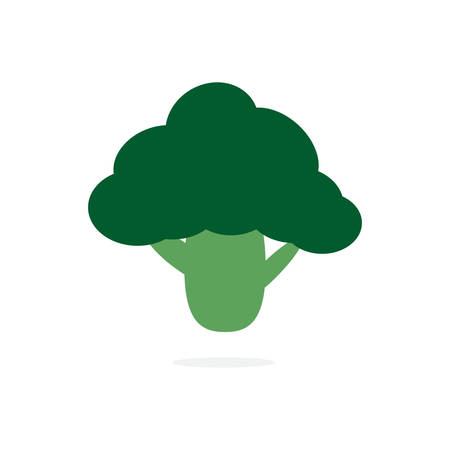 Broccoli cut. Organic food concept. Vector illustration. Stock Illustratie