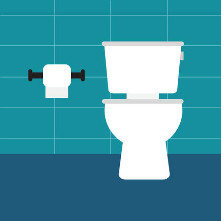 Toilet bowl with toilet paper roll.