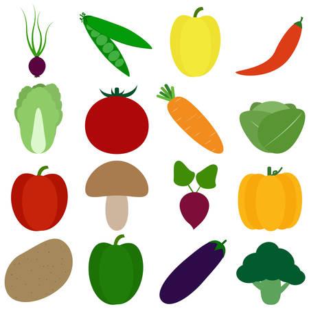 set of cute cartoon veggies and fruits. healthy life set. Иллюстрация