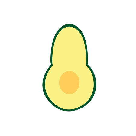 Avocado Icon Outlined Food Fruits