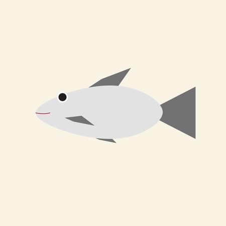 fish icon in trendy flat style Иллюстрация