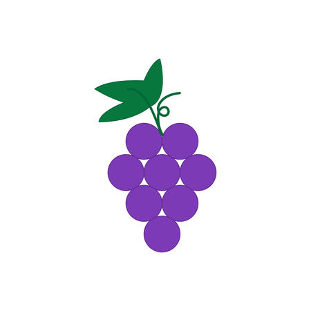 Web line icon. Grapes, bunches of grapes