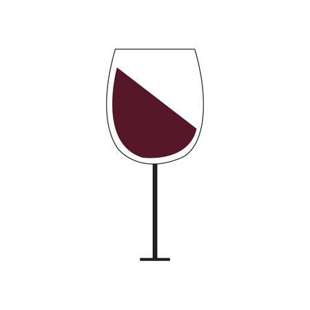 Wine Icon in trendy flat style isolated on grey background. Wine glass symbol for your web site design