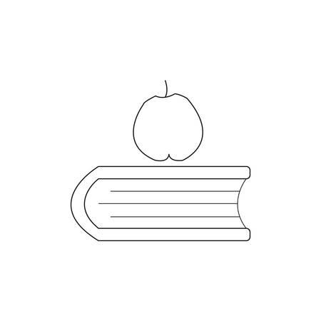 apple and book school icon Иллюстрация