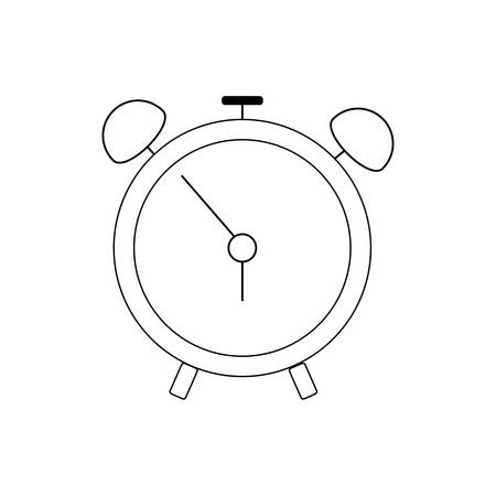 Alarm clock vector icon illustration