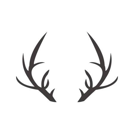 Deer horn illustration logo vector
