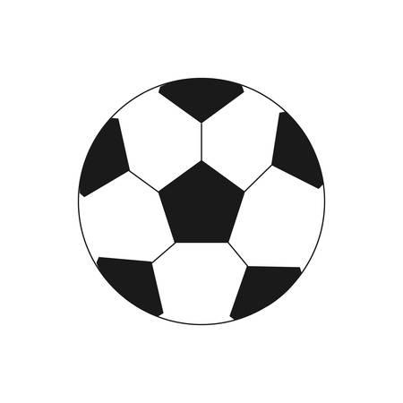 soccer ball on white background Иллюстрация