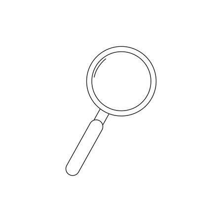 magnifying glass on white background Иллюстрация