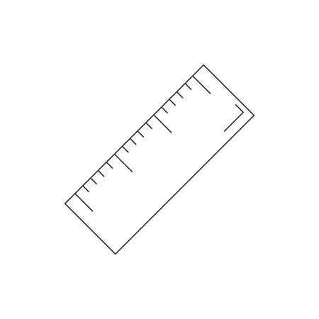 ruler on a white background