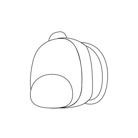 vector illustration of a school bag