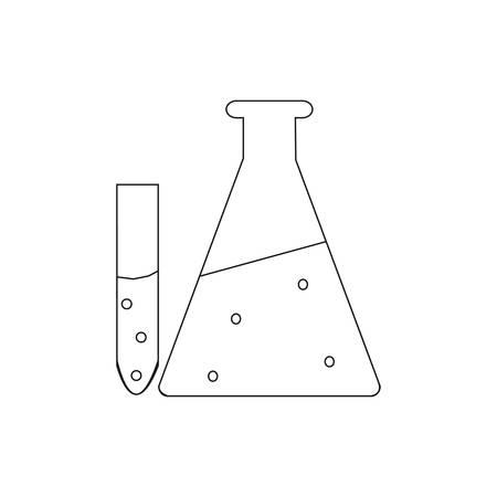 test tube with liquid Иллюстрация