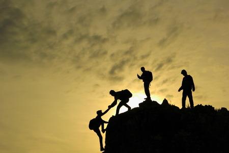 Jonge klimmer team
